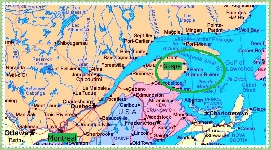 Gaspe Canada Map.Gaspe Peninsula Rolling Radish
